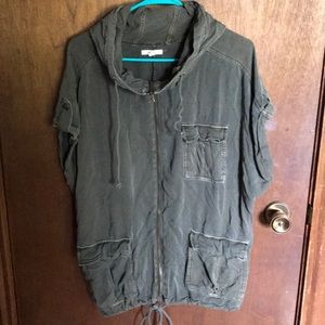 Short sleeve anorak jacket